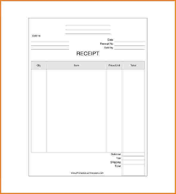 10+ business receipt template | worker resume