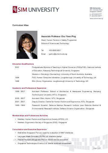 University Professor Curriculum Vitae. curriculum vitae college ...