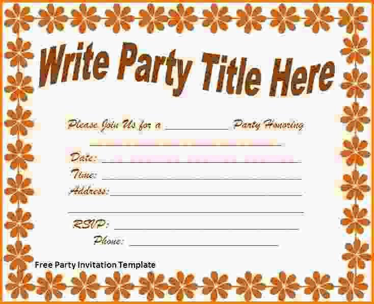 14+ free party invitation templates - LetterHead Template Sample