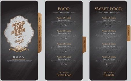 Illustrator template drink menu free vector download (217,670 Free ...