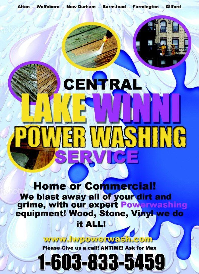 Lake Winnipesaukee Power Washing Service - Flyer/Poster by Steffan ...