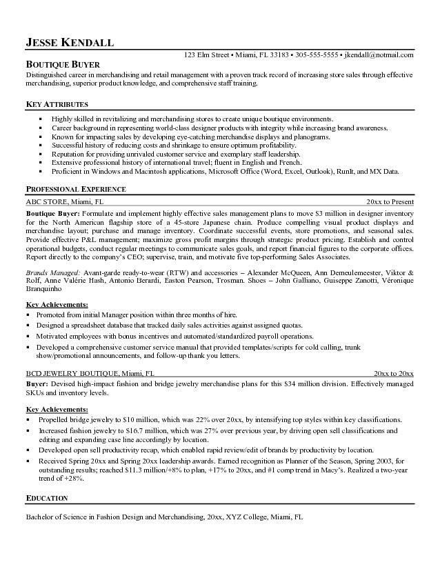 Assistant Buyer Resume | The Best Letter Sample