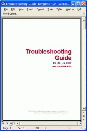 Troubleshooting Guide Template – 5 Ways To Improve Style and ...