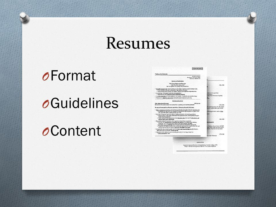 Creating a Resume. - ppt video online download