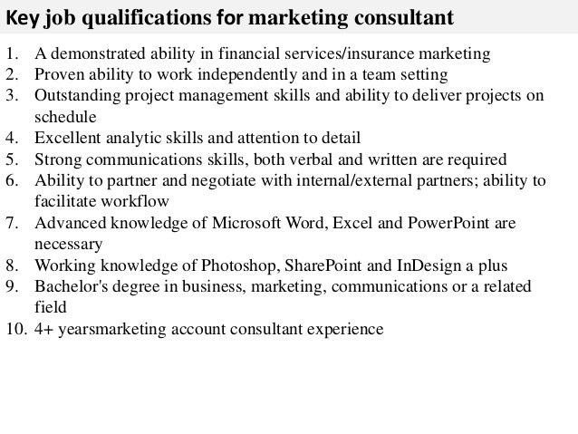 Duties Of A Marketing Consultant