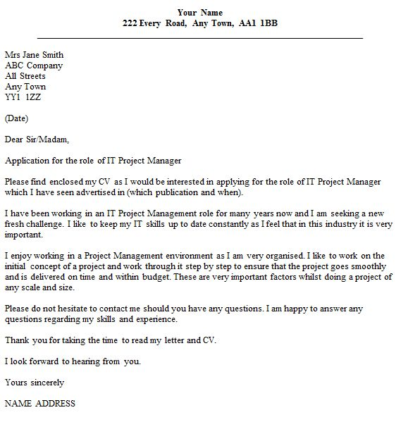 Excellent Inspiration Ideas Cover Letter Project Manager 3 Manager ...