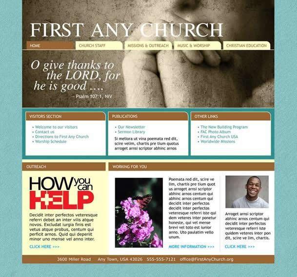 Find Professional Church Website Templates | Church Art Online