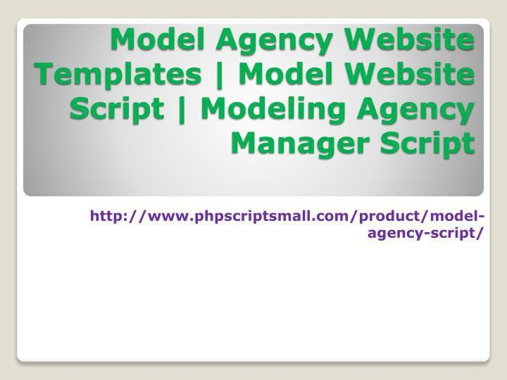 PPT - Model Agency Website Templates|Model Website Script|Modeling ...