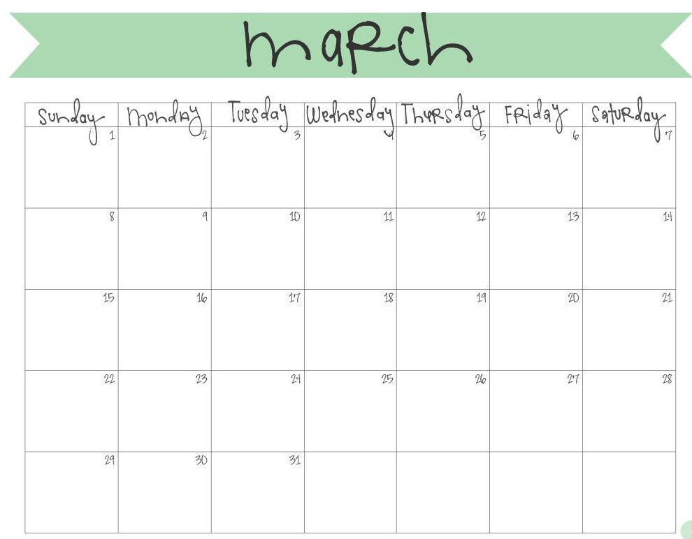 March 2017 Calendar Template Word | Calendar Template : March Calendar