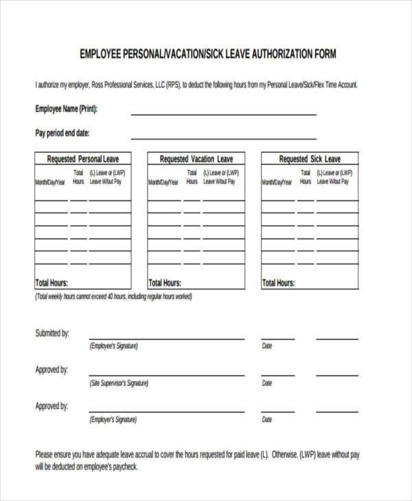 10+ Leave Authorization Form Sample - Free Sample, Example Format ...