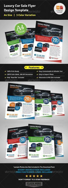 Automotive Car Sale Rental Flyer Ad | Cars, Brochures and Printing