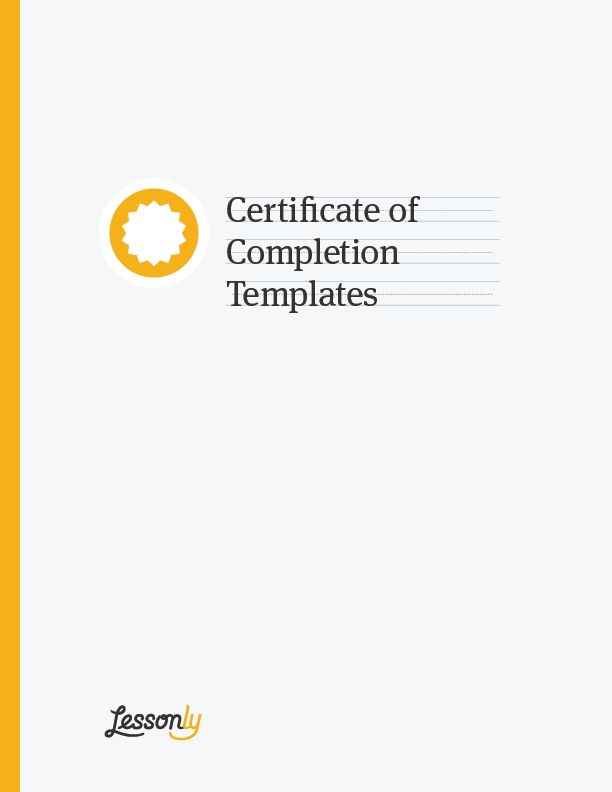 BOOM! 4 FREE Certificate of Completion Templates (MS Word)