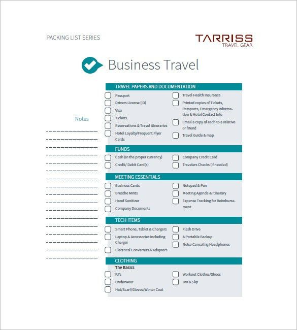 8+ Travel Agenda Templates - Free Sample, Example, Format Download ...