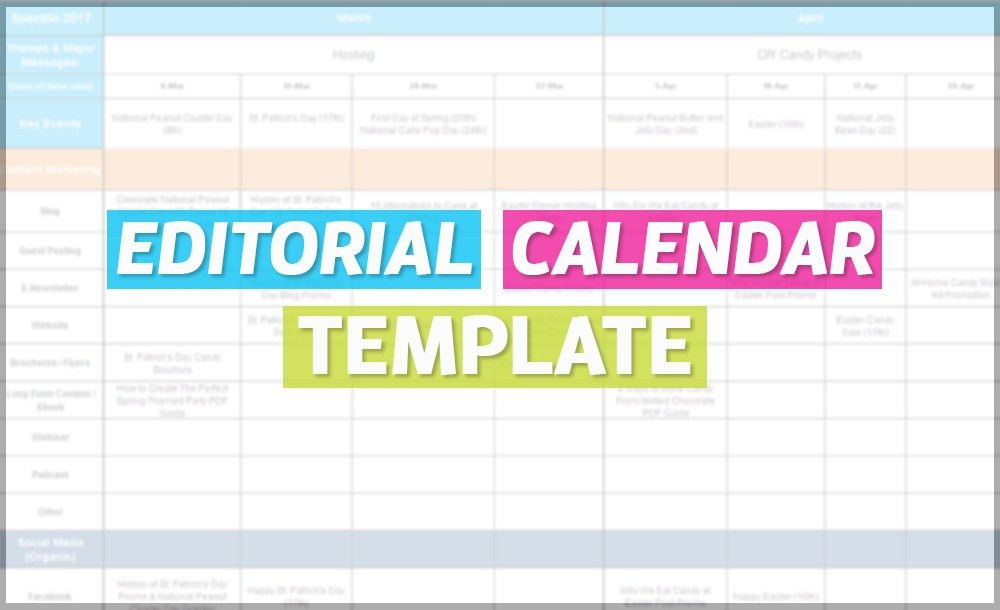 How To Create An Editorial Calendar For The Year [Free Template]