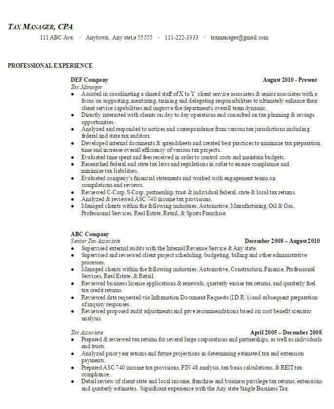 Sample Resumes | AmbrionAMBRION - Minneapolis Executive Search ...