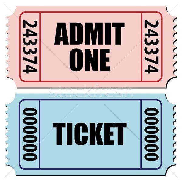 admit one ticket vector illustration © Cihan Demirok (cidepix ...