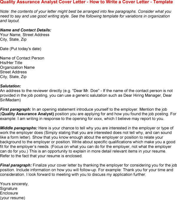 best solutions of software qa cover letter with additional summary ...