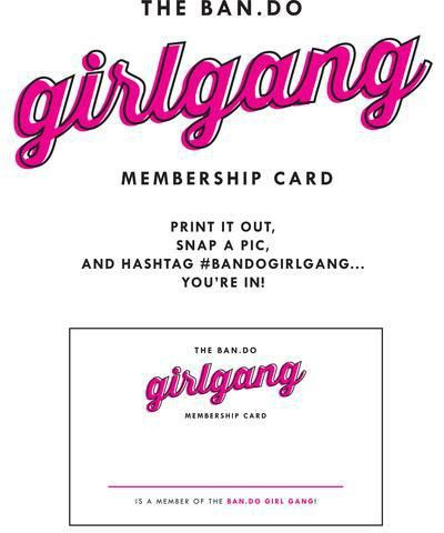 girl gang membership card - ban.do