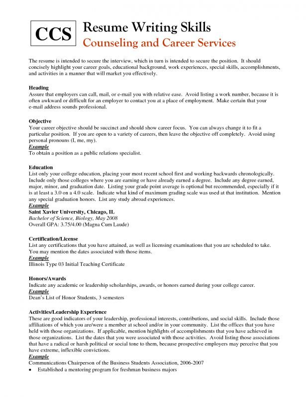 Resume : Cvs For School Leavers Part Time Job Resume Examples ...