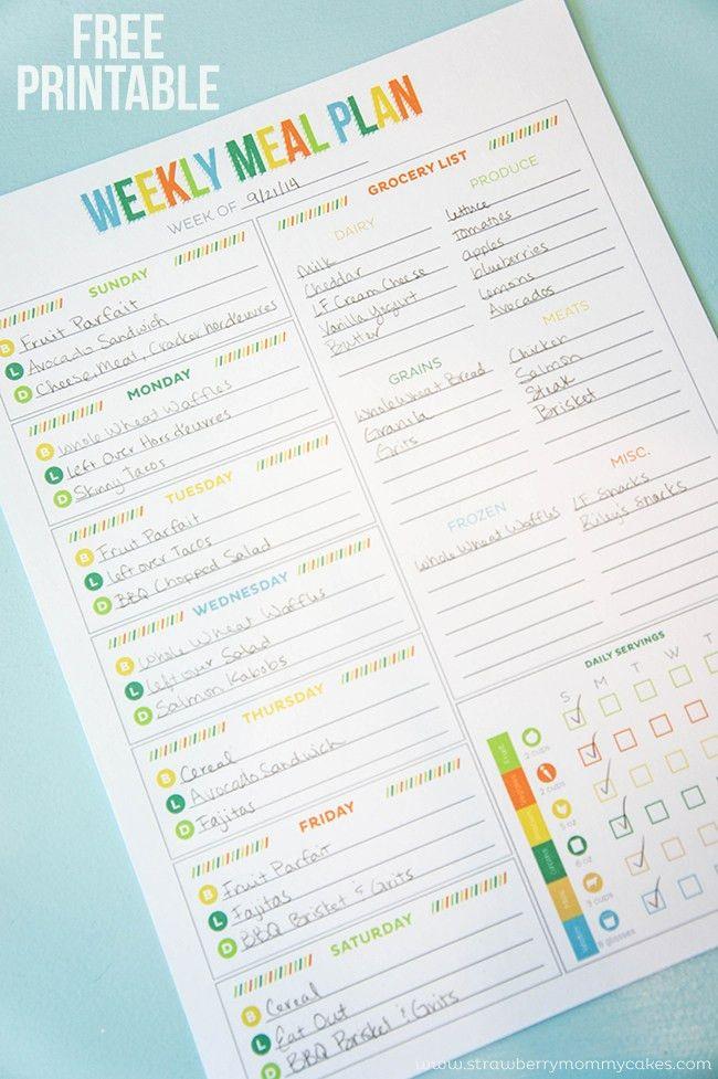 FREE Printable Weekly Meal Planner | Weekly meal plans, Weekly ...