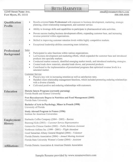 Sales rep, customer service rep resume; good content | Best Resume ...
