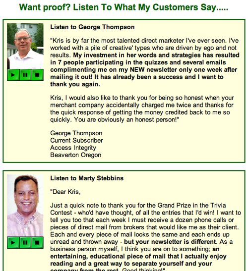 Real Estate Testimonial Examples For Lead Generation
