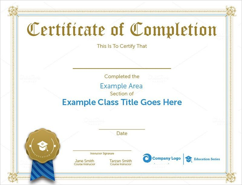 Sample Completion Certificate Templates Download | Creative Template