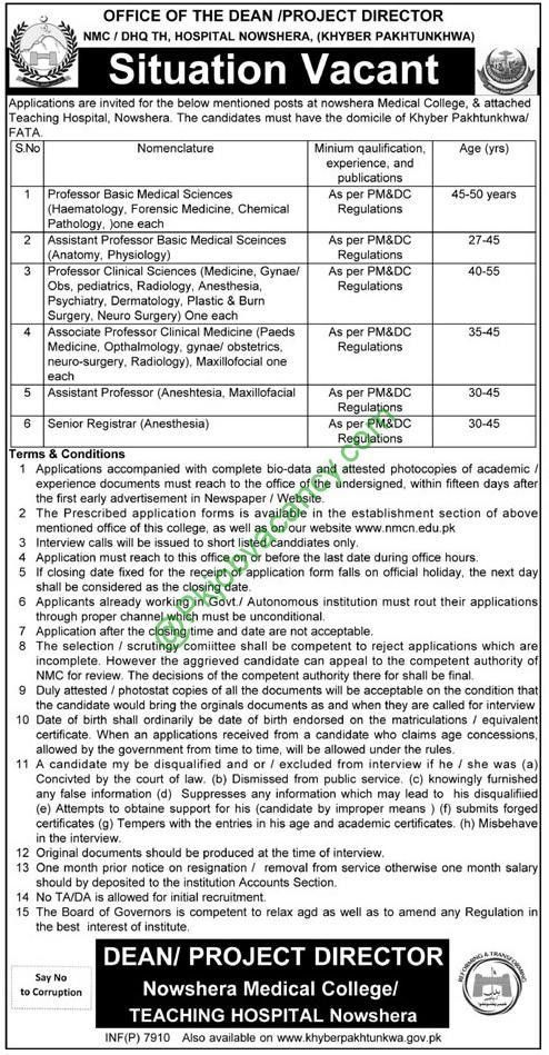 Nowshera Medical College and Teaching Hospital 2017 Jobs ...