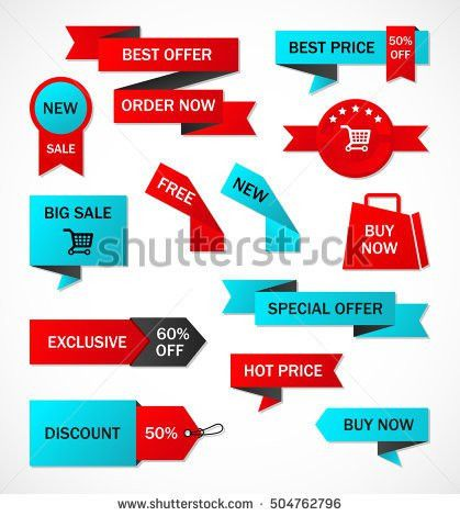 Vector Stickers Price Tag Banner Label Stock Vector 504762796 ...