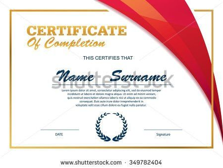 Royalty-free Certificate template,diploma layout,A4… #351913880 ...