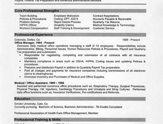 Medical Office Manager Resume Example medical administrative ...