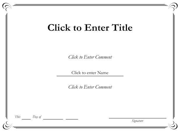 free blank certificate templates for word - Template