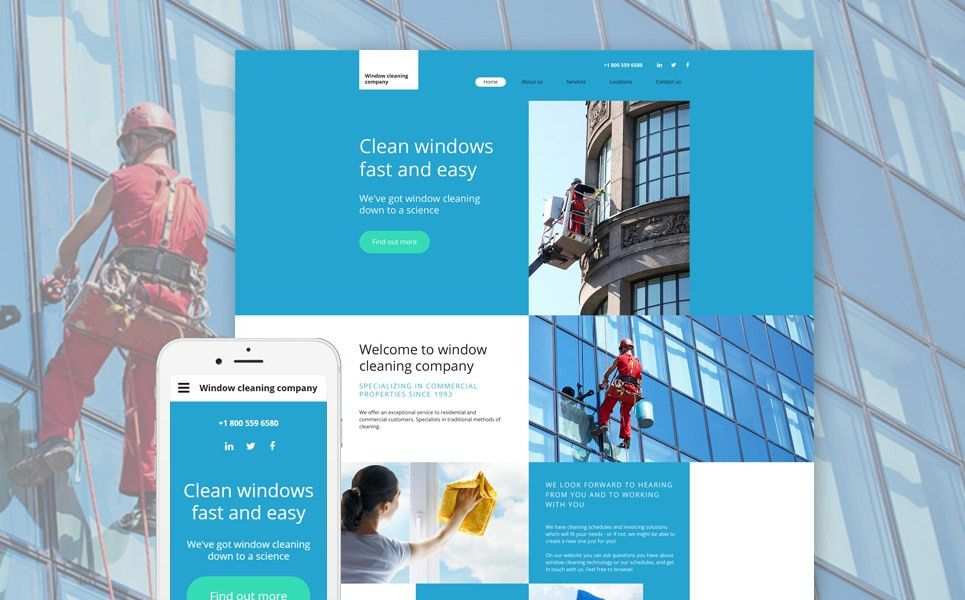 Cleaning Company Web Template