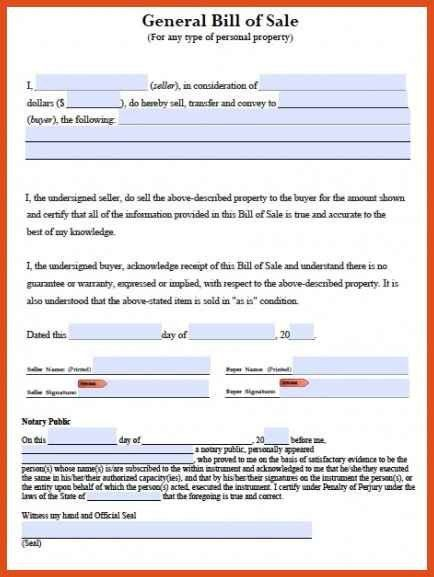 bill of sale template pdf | moa format
