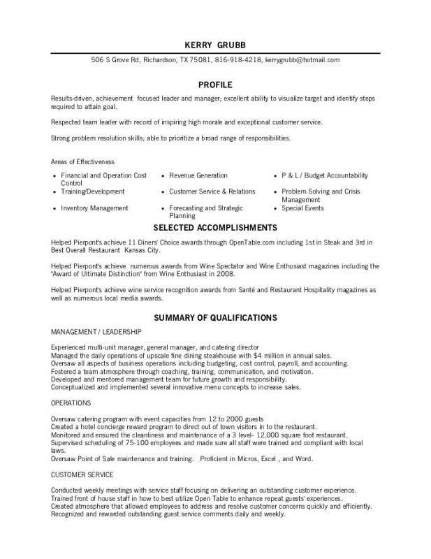 fine dining server resume resume examples - Restaurant Server Resume Sample