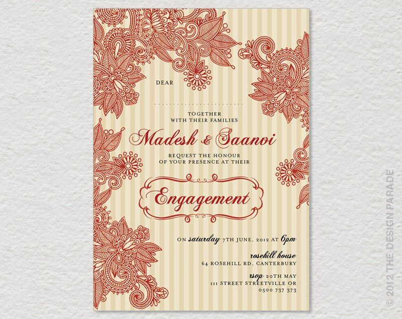 Beautiful Indian Engagement Invitation Cards 54 About Remodel ...
