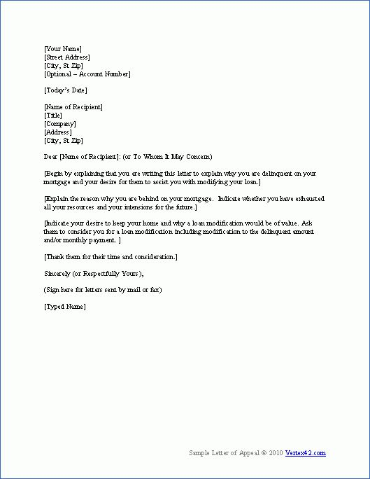 Download the Hardship Letter Template from Vertex42.com ...