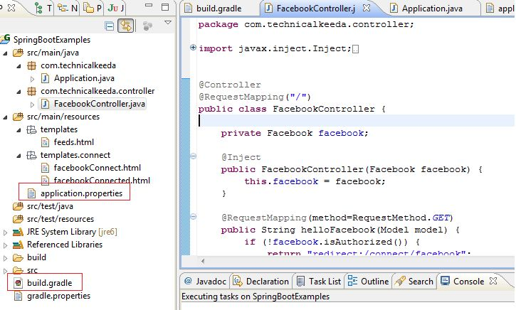 Spring Social Facebook Integration Example