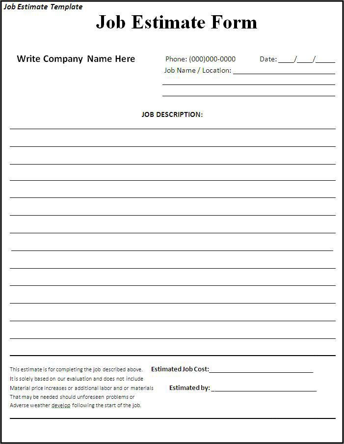 10 Best Images of Free Blank Job Proposal Form Template - Free Job ...