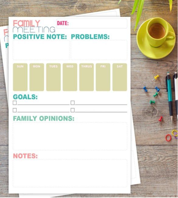 9+ Meeting Note Templates – Free Sample, Example, Format Download ...