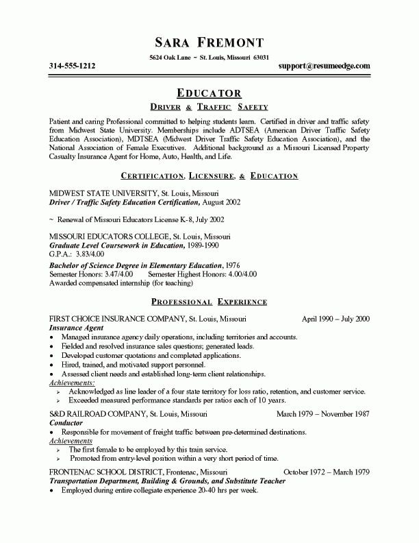 Download Example Of Teacher Resume | haadyaooverbayresort.com