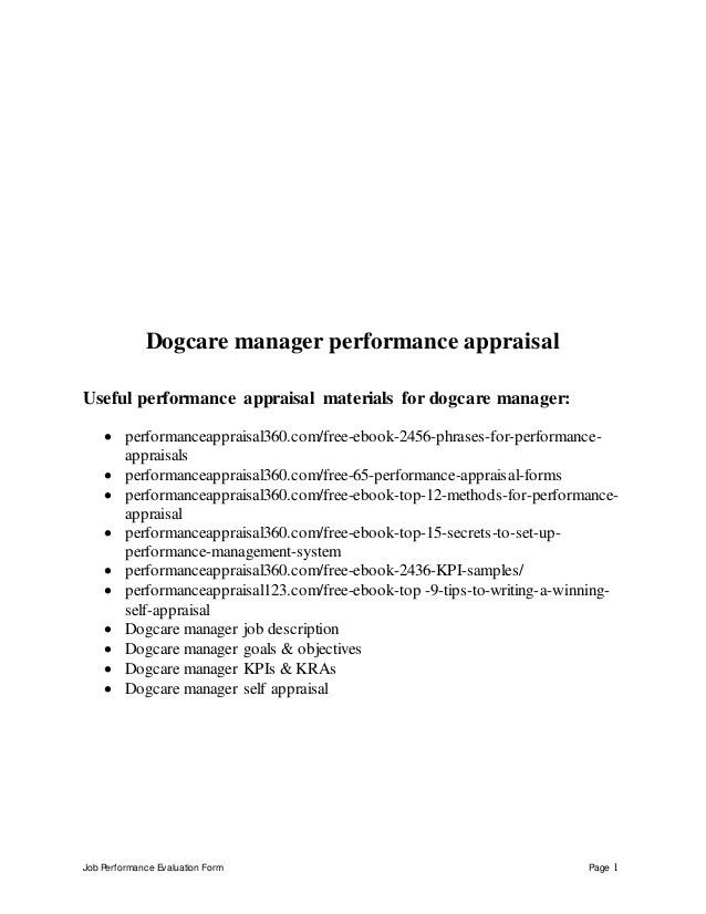 Junior network engineer performance appraisal