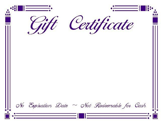 6 Best Images of Gift Certificate Templates Blank - Free Blank ...