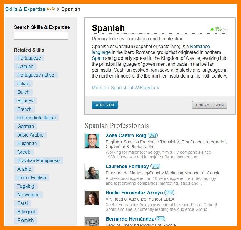 Language Skills Resume Cover Letter - language skills resume sample