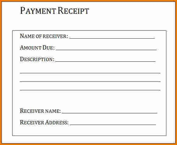 6+ receipt of payment template | Expense Report