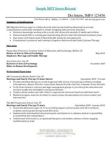 Sample Cover Letter For Psychology Internship