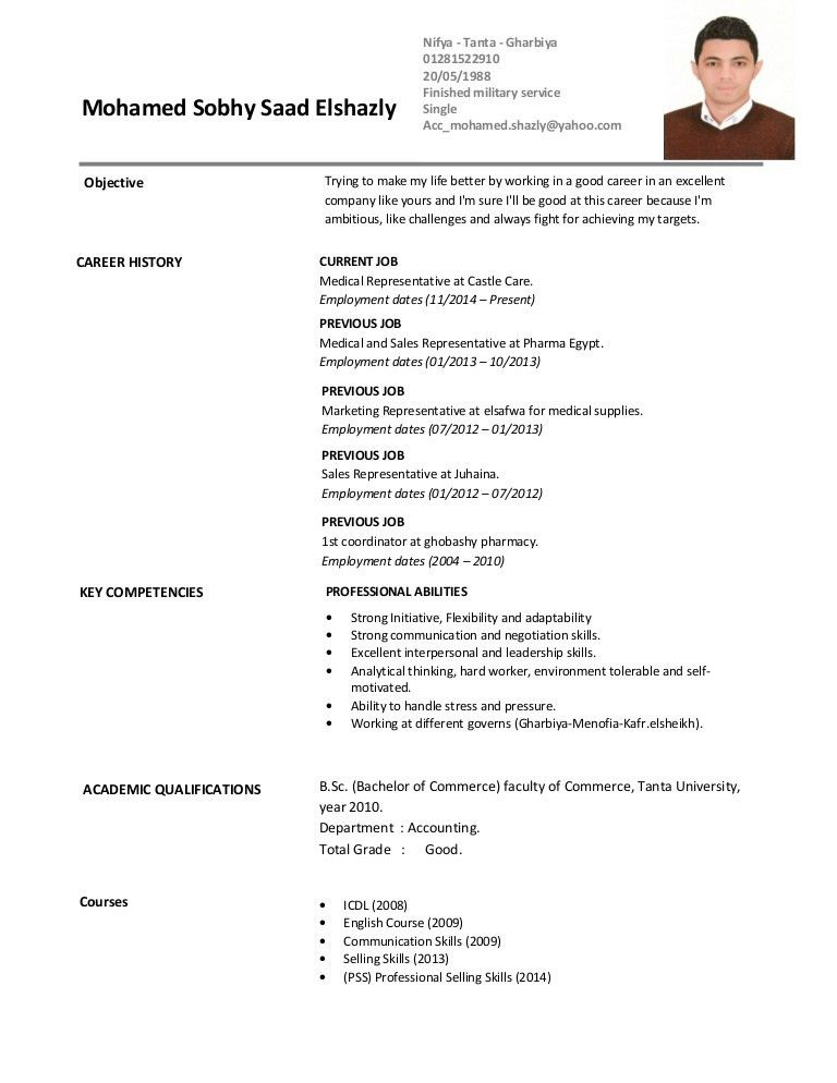 download sample resume for medical representative - Sample Resume For Medical Representative