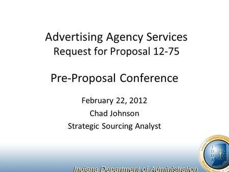 Pre-Proposal Conference January 17 th, :00AM Jennifer Michael ...