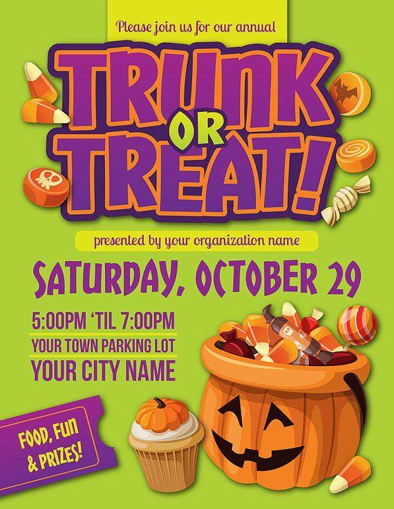 PERSONALIZED Trunk or Treat flyer Halloween by BowWowCreative | My ...