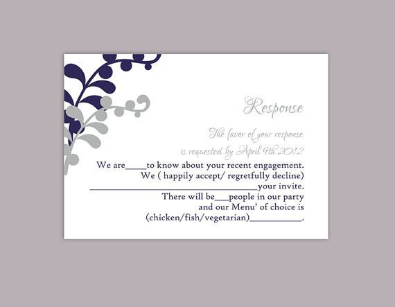 Free Printable Wedding Rsvp Card Templates. Wedding Cards. Wedding ...